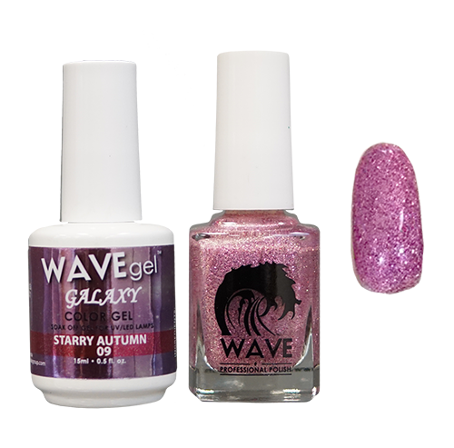 Wave Gel Dipping Powder + Gel Polish + Nail Lacquer, Galaxy Collection, 09 OK1129