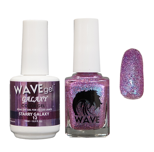 Wave Gel Dipping Powder + Gel Polish + Nail Lacquer, Galaxy Collection, 12 OK1129
