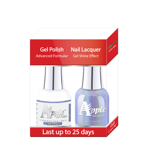 Apple Nail Lacquer & Gel Polish, 5G Collection, 408, Infinity, 0.5oz KK1025