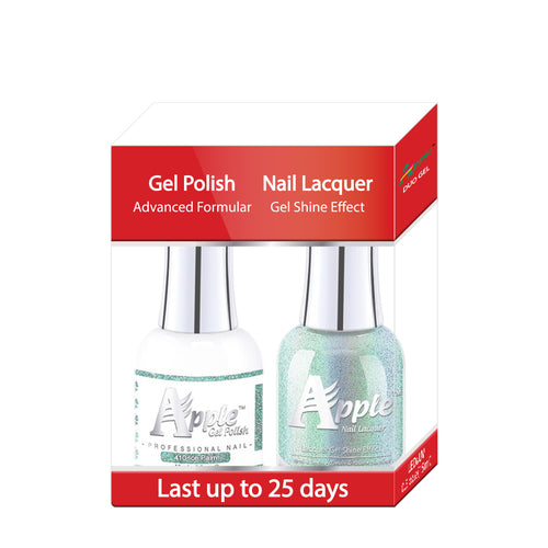 Apple Nail Lacquer & Gel Polish, 5G Collection, 410, Ice Palm, 0.5oz KK1016