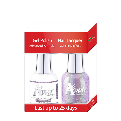 Apple Nail Lacquer & Gel Polish, 5G Collection, 411, Airy Prime Rose, 0.5oz KK1016