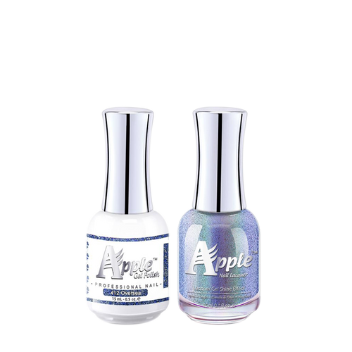 Apple Nail Lacquer & Gel Polish, 5G Collection, 412, Over Sea, 0.5oz KK1016