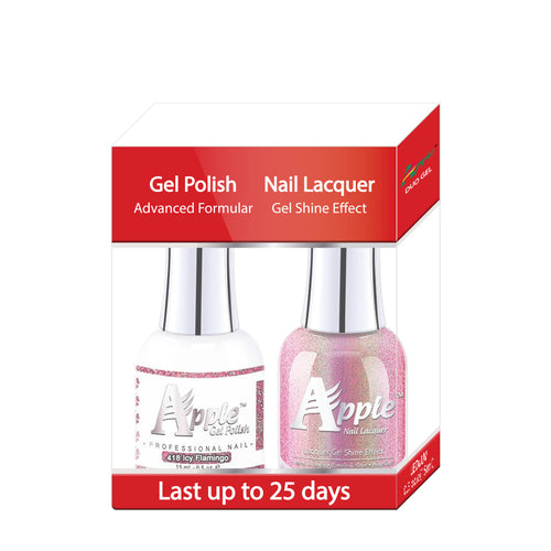 Apple Nail Lacquer & Gel Polish, 5G Collection, 418, Icy Flamingo,  0.5oz KK1025