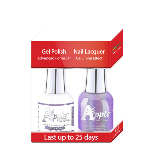 Apple Nail Lacquer & Gel Polish, 5G Collection, 587, Icy Sun, 0.5oz KK1016