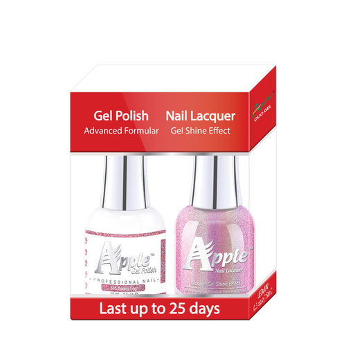 Apple Nail Lacquer & Gel Polish, 5G Collection, 595, Spring Fox, 0.5oz KK1025