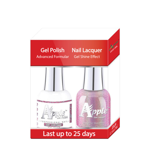 Apple Nail Lacquer & Gel Polish, 5G Collection, 599, Love Seed, 0.5oz KK1025