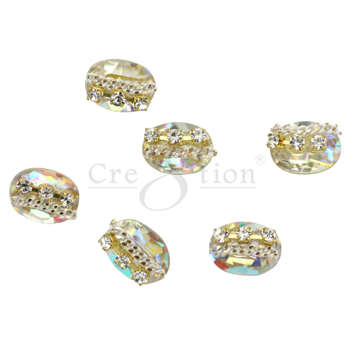 Cre8tion Nail Art Charms, Black, E08