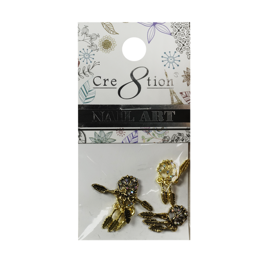 Cre8tion Nail Art Charms, Black, E09