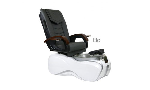 ELo, Pedicure Spa Chair, White Silver KK (NOT Included Shipping Charge)