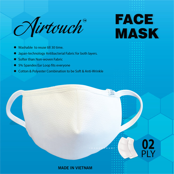 Airtouch Fabric Face Mask (COTTON), 2 PLY OK0416VD