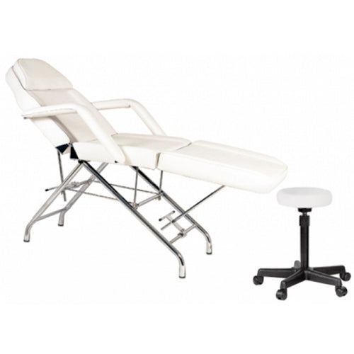Ikonna Facial Chair, Tissue Roll Bar, Face Rest, White, FBC-A1, 96lbs (NOT Included Shipping Charge)