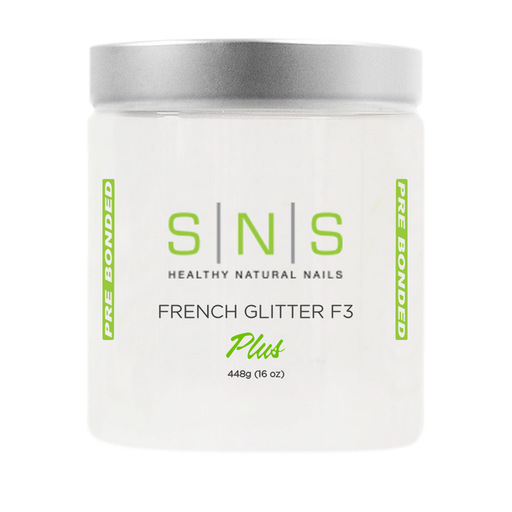SNS Dipping Powder, 03, WHITE GLITTER F3, 16oz, 18pcs/case OK0118VD