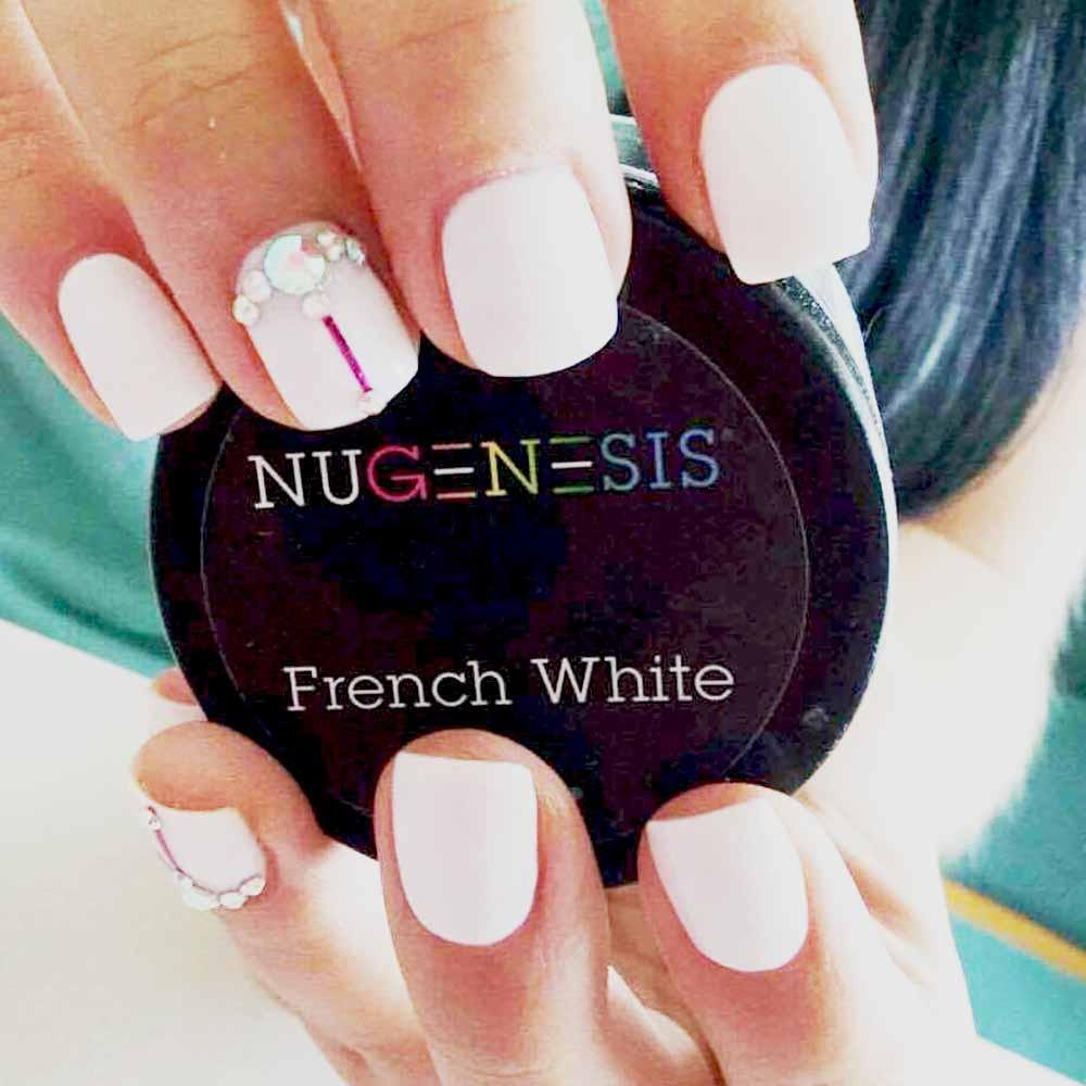 Nugenesis Dipping Powder, Pink & Whites, French White, 2oz KK ...