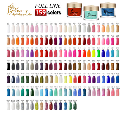 iGel Acrylic/Dipping Powder, Dip & Dap Collection, 2oz, Full line of 159 colors (from DD001 to DD159) KK1003