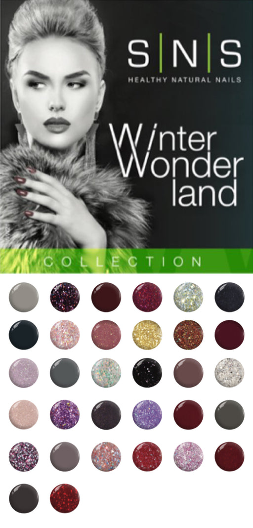 SNS Gelous Dipping Powder, Winter Wonderland Collection, Full Line Of 36 Color (from WW01 to WW36) KK1220