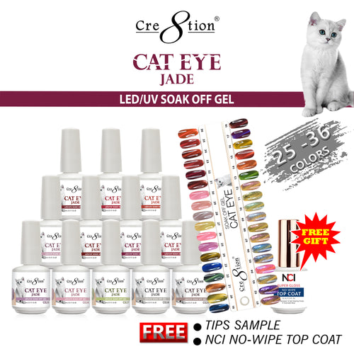 Cre8tion Cat Eye  Jade, 0.5oz, Full Line of 12 Colors (From CE25 to CE36, Price: $7.46/pc) KK Pro