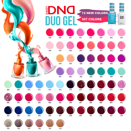 DND Nail Lacquer And Gel Polish, 0.5oz, Full Line Of 307 Colors ( from 401 to 710)