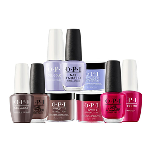 OPI 3in1 Dipping Powder + Gel Polish + Nail Lacquer, 1.5oz, Full line of 44 colors