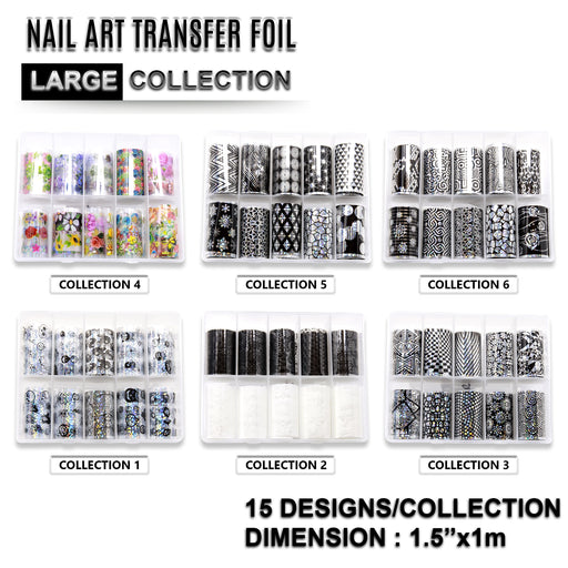 NCI Nail Art Transfer Foil, Large, Full Of 6 Collections OK0424VD