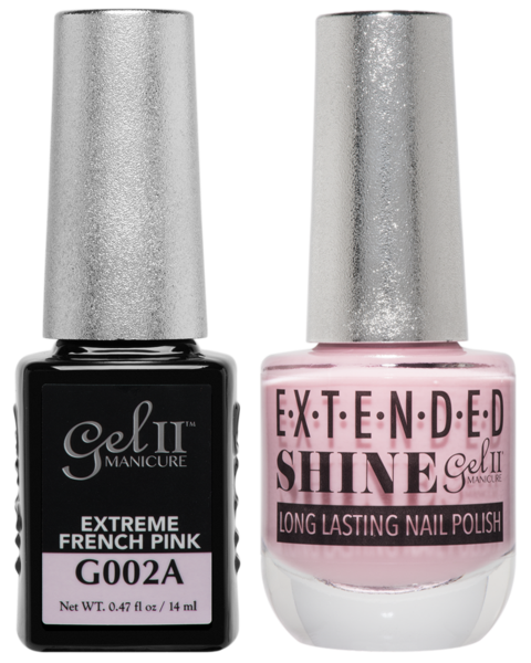 Gel II Manicure And Extended Shine, G002A, Extreme French Pink, 0.47oz KK
