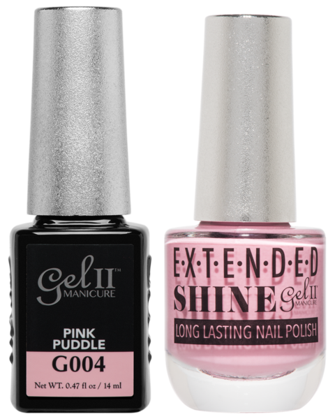 Gel II Manicure And Extended Shine, G004, Pink Puddle, 0.47oz KK