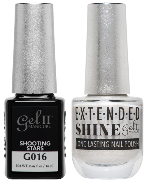 Gel II Manicure And Extended Shine, G016, Shooting Stars, 0.47oz KK