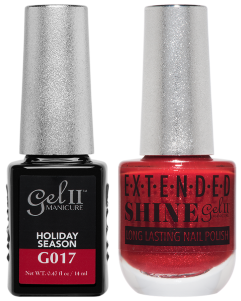 Gel II Manicure And Extended Shine, G017, Holiday Season, 0.47oz KK