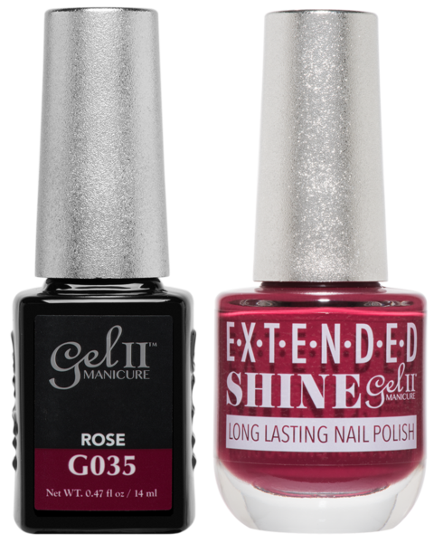 Gel II Manicure And Extended Shine, G035, Rose, 0.47oz KK