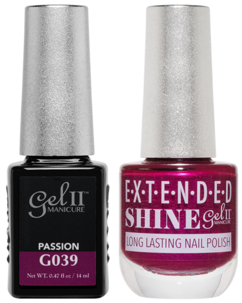 Gel II Manicure And Extended Shine, G039, Passion, 0.47oz KK