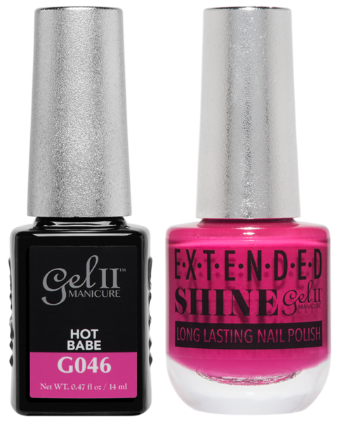 Gel II Manicure And Extended Shine, G046, Hot Babe, 0.47oz KK