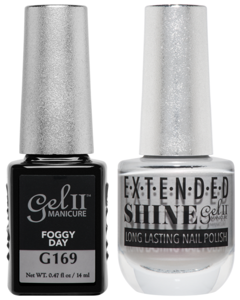 Gel II Manicure And Extended Shine, G169, Foggy Day, 0.47oz KK