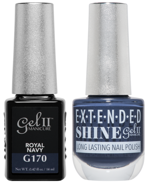 Gel II Manicure And Extended Shine, G170, Royal Navy, 0.47oz KK