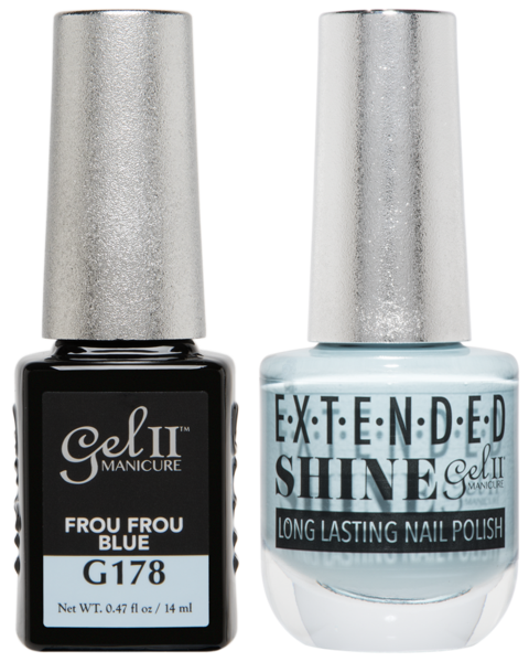 Gel II Manicure And Extended Shine, G178, Frou Frou Blue, 0.47oz KK