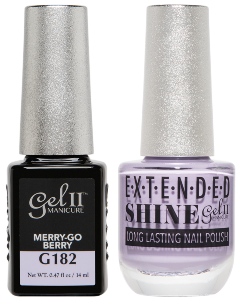Gel II Manicure And Extended Shine, G182, Merry-Go Berry, 0.47oz KK