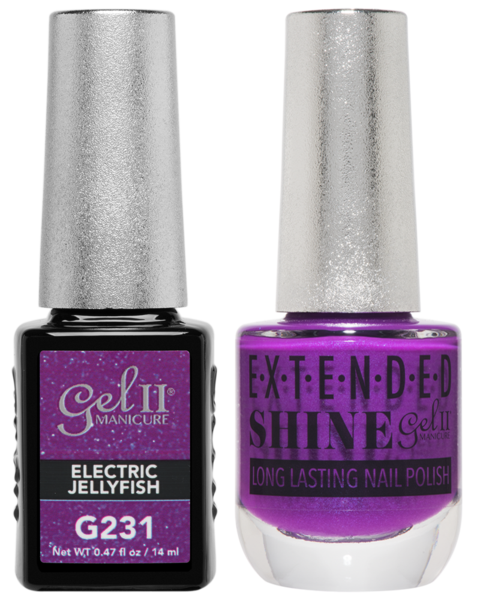 Gel II Manicure And Extended Shine, G231, Electric Jellyfish, 0.47oz KK