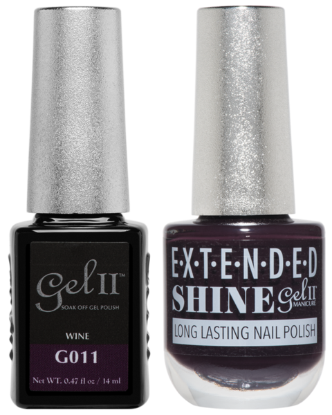 Gel II Manicure And Extended Shine, G011, Wine, 0.47oz KK