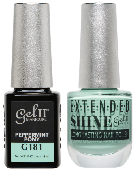 Gel II Manicure And Extended Shine, G181, Peppermint Pony, 0.47oz KK