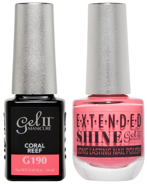 Gel II Manicure And Extended Shine, G190, Coral Reef, 0.47oz KK