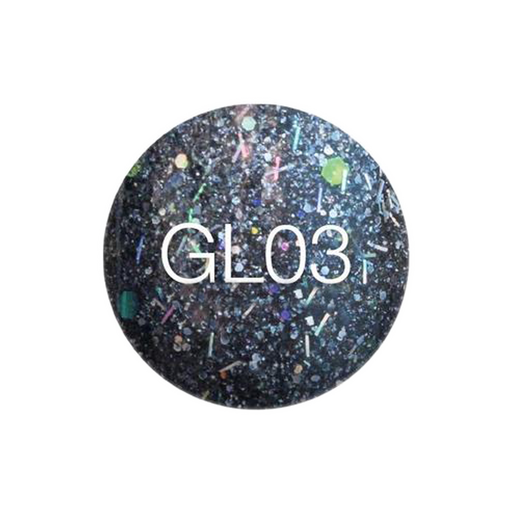 SNS Gelous Dipping Powder, GL03, Glitter Collection, 1oz KK0724