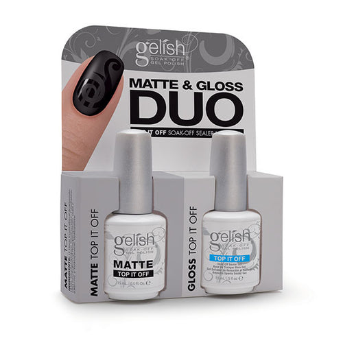 Gelish Gel 01519, Matte Top & Gloss Duo, 0.5oz BB KK