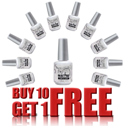 Gelish Gel, Matte Top-It-Off Sealer, 0.5oz, 01222, Buy 10 Get 1 FREE