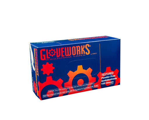 Gloveworks Latex Gloves, Powder-Free, TLF42100, size S KK