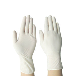 Cre8tion Disposable Latex Gloves (Made In Malaysia), Powder-Free, Size M, 10088 (Packing: 100 pcs/box, 10 boxes/case)