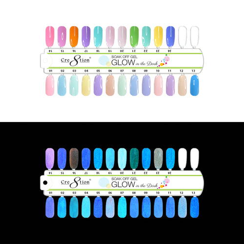 Cre8tion Glow In The Dark Gel, 0.5oz, Full Line Of 24 Colors (from G01 to G24, Price: $8.29/pc) KK1214