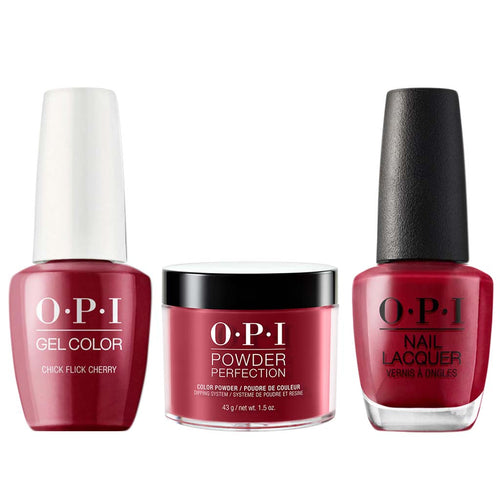 OPI 3in1, H02, Chick Flick Cherry