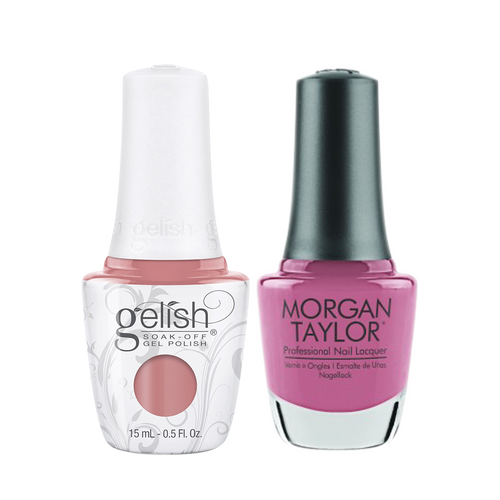 Gelish Gel Polish & Morgan Taylor Nail Lacquer 1, 1110336 + 3110336, Forever Fabulous Winter Collection 2018, Hollywoods Sweetheart, 0.5oz KK1011