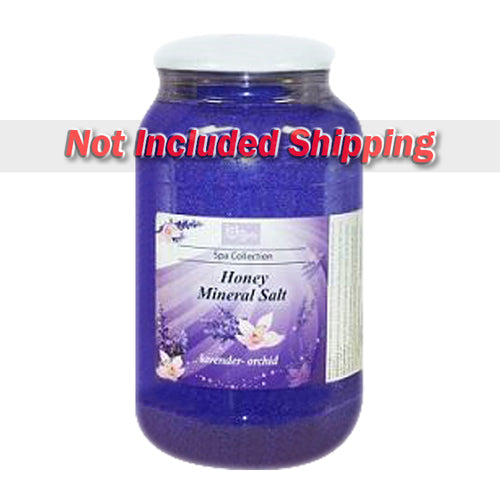 Be Beauty Spa Collection, Honey Mineral Salt, CSAL110, Lavender & Orchid, 1Gallon KK0511