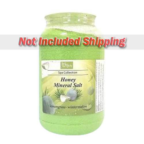 Be Beauty Spa Collection, Honey Mineral Salt, CSAL115, Lemongrass & Wintermelon, 1Gallon KK0511