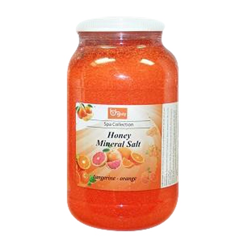 Be Beauty Spa Collection, Honey Mineral Salt, CSAL109, Tangerine & Orange, 1Gallon KK0511