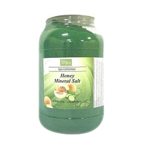 Be Beauty Spa Collection, Honey Mineral Salt, CSAL107, White Tea & Cucumber, 1Gallon KK0511